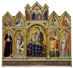 WALTERS: Catarino Veneziano (Italian, active 1362-1382): Madonna and Child, the Crucifixion, and Saints 1368