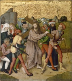 WALTERS: German: Altarpiece with the Passion of Christ: Way to Calvary 1468