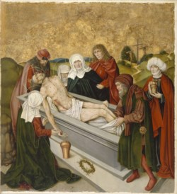 WALTERS: German: Altarpiece with the Passion of Christ: Entombment 1468