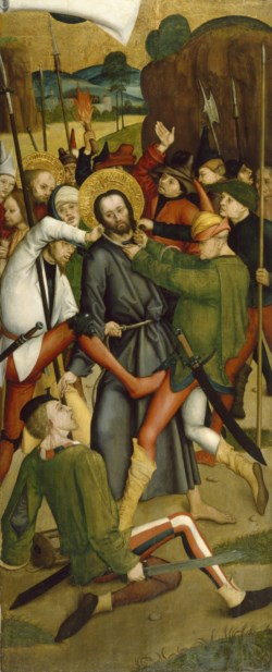 WALTERS: Bernhard Strigel (German, 1460-1528): The Arrest of Christ 1495