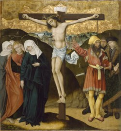 WALTERS: German: Altarpiece with the Passion of Christ: Crucifixion 1468