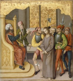 WALTERS: German: Altarpiece with the Passion of Christ: Christ before High Priest 1468