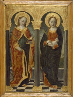 WALTERS: Vincenzo Foppa (Italian, ca. 1427-ca. 1515): Saints Agnes and Catherine of Alexandria 1448