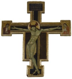 WALTERS: Venetian: Crucifix with Mourning Virgin and St. John the Evangelist 1258