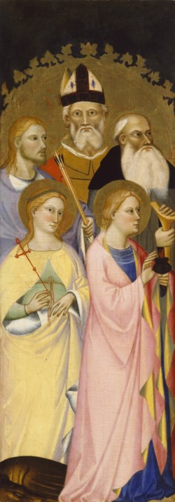 WALTERS: Giovanni del Biondo (Italian, active 1356-1399): Five Saints 1370