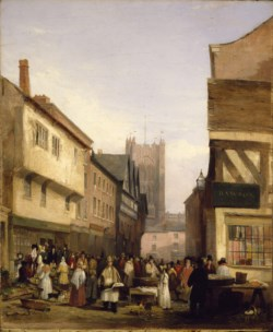 WALTERS: George Wilfrid Anthony (English, 1810-1859): Market Scene 1832