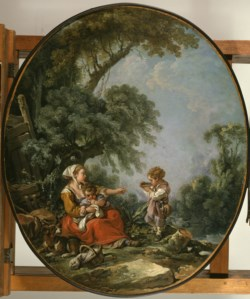 WALTERS: François Boucher (French, 1703-1770): Pastoral Repast 1769