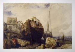 WALTERS: Eugène Isabey (French, 1803-1886): Fishing Boats 1836