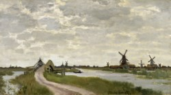 WALTERS: Claude Monet (French, 1840-1926): Windmills Near Zaandam 1871