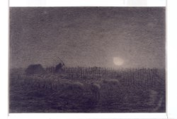 WALTERS: Jean-François Millet (French, 1814-1875): The Sheepfold, Moonlight 1846