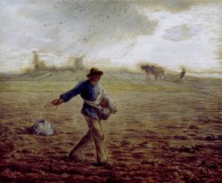 WALTERS: Jean-François Millet (French, 1814-1875): The Sower 1853