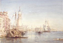 WALTERS: Félix François Georges Philibert Ziem (French, 1821-1911): Venice, Evening 1863