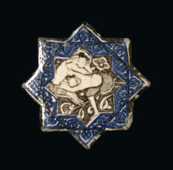 WALTERS: Iranian: Star with Wrestling Motif 1250