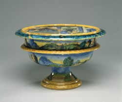 WALTERS: Venetian: Soup Bowl and Tray from a Childbirth Set 1518