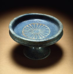 WALTERS: Egyptian: Blue Faience Saucer and Stand -1412