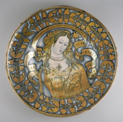 WALTERS: Venetian: Lustered dish with a female figure 1498