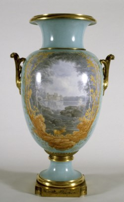 WALTERS: Sèvres Porcelain Manufactory (French, active 1756-present): Vase with Landscape Scenes 1866