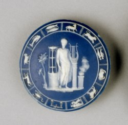 WALTERS: Josiah Wedgwood and Sons (English, 1759-present): Medallion with Apollo and Zodiac Border 1775