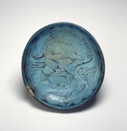WALTERS: Egyptian: Bowl with Fish and Lotuses -1550