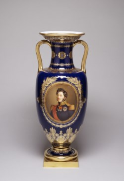 WALTERS: Sèvres Porcelain Manufactory (French, active 1756-present): One of a Pair of Vases 1844