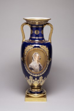 WALTERS: Sèvres Porcelain Manufactory (French, active 1756-present): One of a Pair of Vases 1766