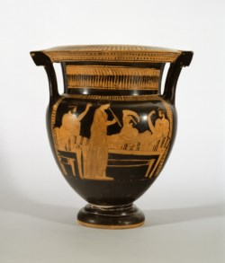 WALTERS: Naples Painter (Greek, active ca. 450 BC-ca. 420 BC): Red-Figure Column Krater -452