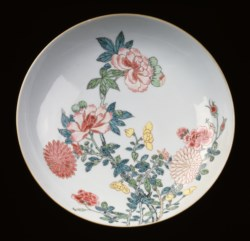 WALTERS: Chinese: Dish with Chrysanthemums and Peonies 1720