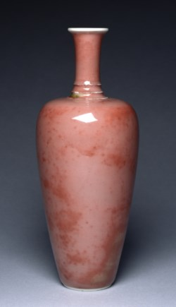 "WALTERS: Chinese: ""Three-String"" Vase (""The Peach Bloom Vase"") 1710"