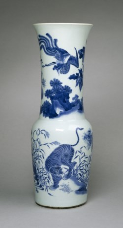WALTERS: Chinese: Beaker-Shaped Vase with Four Animals 1628