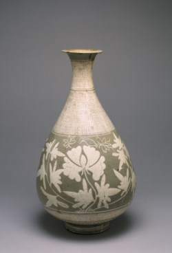 WALTERS: Korean: Wine Jar with Design of Peonies 1400