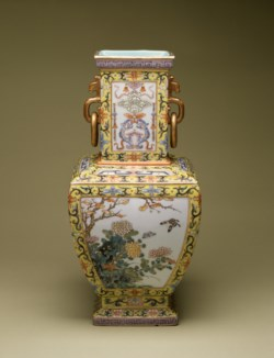 WALTERS: Chinese: Vase with Flowers of the Four Seasons 1736