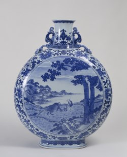 WALTERS: Chinese: Flask with Scenes of Plowing and Weaving 1736