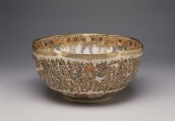 WALTERS: Yabu Meizan (Japanese, 1853-1934): Bowl with a Multitude of Women 1892