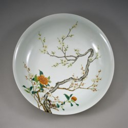 WALTERS: Chinese: Dish with Flowering Prunus 1723