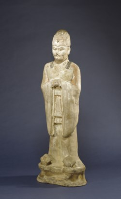 WALTERS: Chinese: One of a Pair of Standing Officials 600