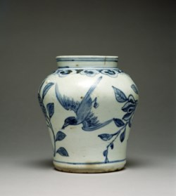 WALTERS: Korean: Jar with Design of Pomegranates and Birds 1800