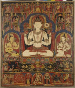 WALTERS: Tibetan: Shadakshari Triad and Other Deities 1100
