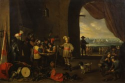 WALTERS: Workshop of David Teniers II (Flemish, 1610-1690): The Guard Room 1630