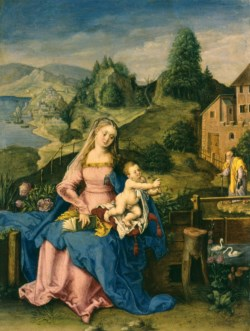 WALTERS: German: Virgin and Child in a Landscape 1588