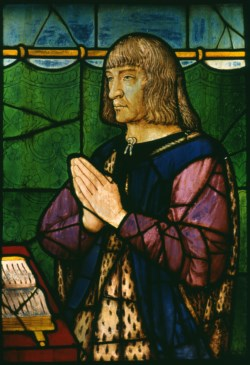 WALTERS: Attributed to Jean Perréal (French, ca. 1455-1530): Portrait of King Louis XII of France at Prayer 1500