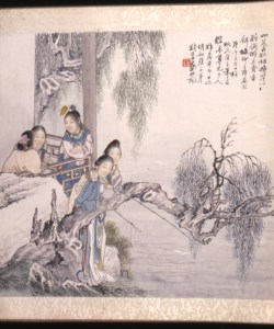 "WALTERS: Qian Hui'an (Chinese, 1833-1911): Scene from the Novel ""The Red Chamber Dream"" 1860"