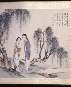 WALTERS: Yin Xiaoxia (Chinese, active 19th century): Landscape with Figures 1860