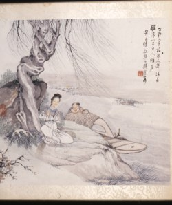 WALTERS: Qian Hui'an (Chinese, 1833-1911): Landscape with Figures 1860