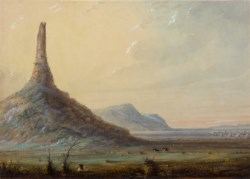 WALTERS: Alfred Jacob Miller (American, 1810-1874): Chimney Rock 1858