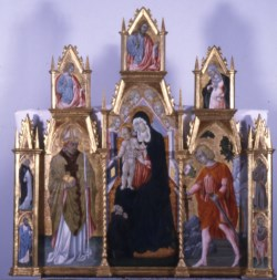 WALTERS: Workshop of Giovanni di Paolo (Italian, ca. 1420-1482): Virgin and Child with Saints 1463