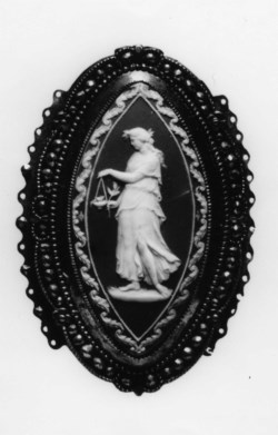 WALTERS: Lady Elizabeth Templetown (English, 1747-1823): Belt Clasp with a Woman Making a Sacrifice 1780