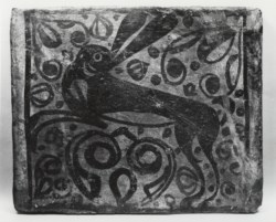WALTERS: Spanish: Ceiling Tile (socarrat) with a Hare 1501