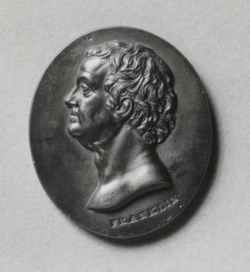 WALTERS: William Hackwood (English, 1757-1836): Portrait Medallion of Benjamin Franklin 1767