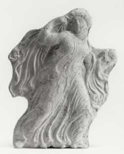 WALTERS: Greek: Appliqué Relief of a Running Maiden -400