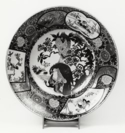 WALTERS: Japanese: Dish with Hawks 1850